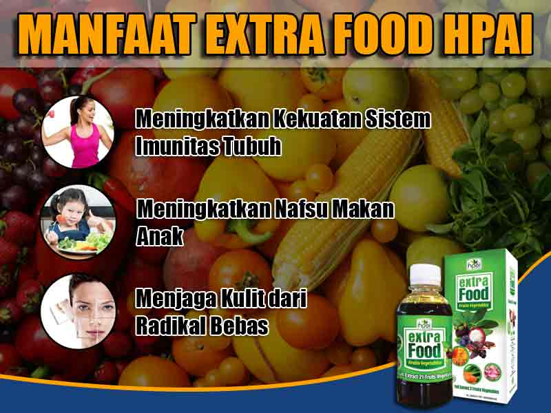 Dosis Pemakaian Extra Food Fruit Vegetable